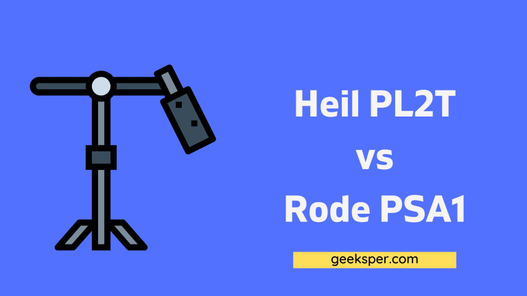 Heil PL2T vs Rode PSA1