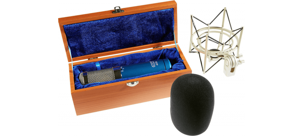 in the box with MXL 4000 microphone