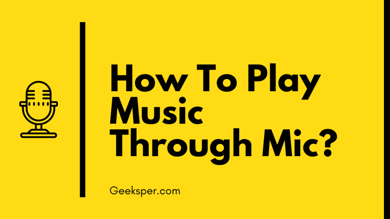 How To Play Music Through Mic