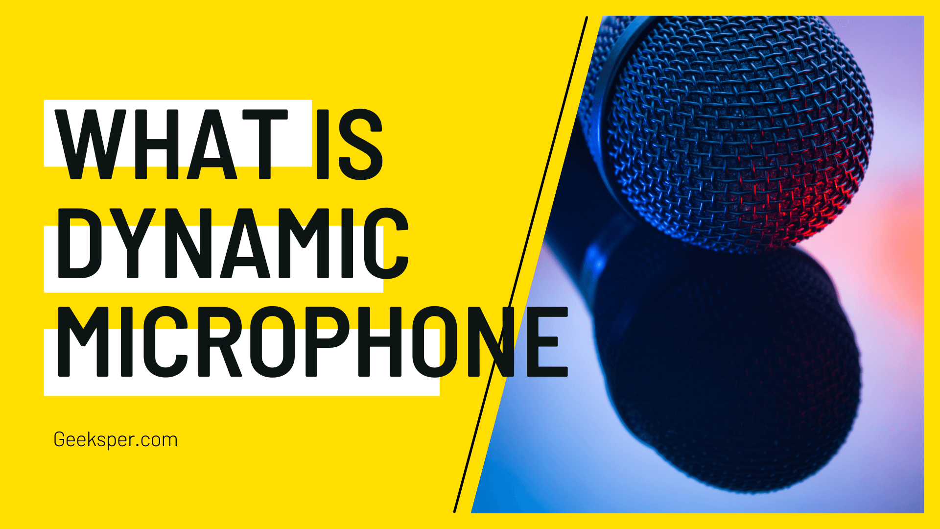 What is a dynamic microphone? Working, Advantages & Disadvantages