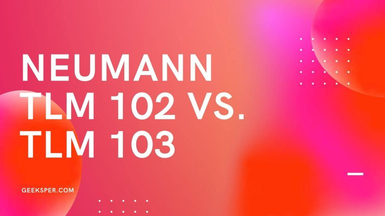 Neumann TLM 102 vs. TLM 103 Microphone Comparison