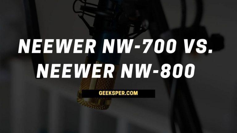 Neewer NW-700 vs. Neewer NW-800 microphone comparison